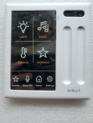 Brilliant Smart Home Control 2-gang Light Switch Panel Bha120us-wh2