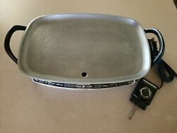 Vintage Farberware Electric Griddle Warming Tray 260 Immersible Skillet 18x12andrdquo