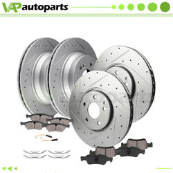 Brake Pads And Rotors Front Rear For Mercedes-benz E350 E500 Drilled