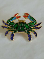 Md Ffa Colorful Crab Lapel Hat Jacket Pin Future Farmers Of America Maryland