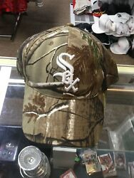 Nwot Chicago White Sox Camo Adjustable Strapback Hat Cap New Without Tags