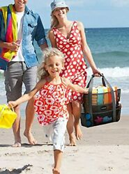 Beach Bags and Totes for Women MAX Capacity 35L 150lbs Durable Toy Tote Bag $30.61