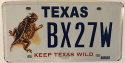 Wildlife Horned Lizard License Plate Horny Horn Toad Reptile Scales Wild Animal