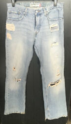 Levi's Mens 527 Low Boot Cut Jeans Size 32x32 Distressed