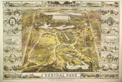 Central Park Nyc 2x3 Fridge Magnet Aerial View Birdand039s Eye City Maps Vintage Ny