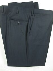 Lanvin Mens Navy Flat Front Wool Dress Pants 45x31 Italy Made Recent