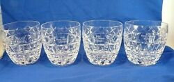 Waterford Crystal Set 4 Kylemore Gte Byron Nelson 3¼ Old Fashioned Glasses Golf