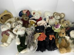 Boyds Bears Lot Stuffed Animals Plush Collectible Bears Mouse Mice Cats Invesmt