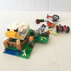 LEGO The Chicken Coop Minecraft 21140 About 85% Complete Plus Extras