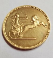 Egyptian Gold Coin. 50 Pound Issued 1994 Unc Gold .22 K 8.5 Grams