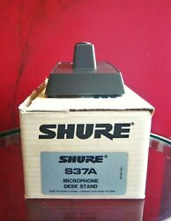 Vintage 1980and039s Shure S37a Microphone Desk Stand W Accessories 55s Sm58 565 1