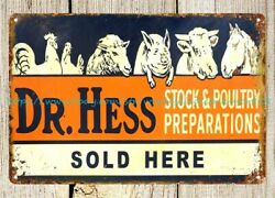 Dr. Hess Stock And Poultry Preparations Metal Tin Sign Wall Posters