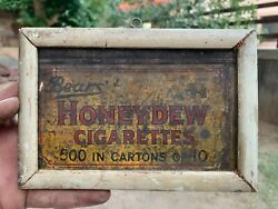 Collectible Vintage Bears Honey Cigarettes 500 In Cartons 10 Tin Photo Frame