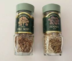 Vintage Mccormick Spice Jar Green Top- Fennel Seed And Fancy Dill Seed - Retro