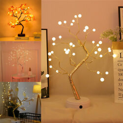 Fire Tree Night Light Bedside Table Lamp Diy Fairy Lamps Home Decoration Lights