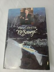 Signed 1st Edition They Called Me Mr Bonanza Larry A Ball 1990 Hc Dj Planes