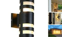 Modern Outdoor Wall Lamps Cylinder Up/down Porch Light Fixtures Wall Mount