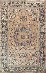 Vintage Muted Geometric Traditional Oriental Area Rug Wool Hand-knotted 8x11 Ft