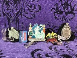 Disney Haunted Mansion 4 Bolo Lanyards Wdi Plaque 40 Yrs Cast Member Exclusives