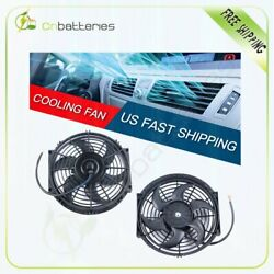 2x Universal 10 Inch Radiator Condenser Cooling Fan For Toyota Celica Corolla