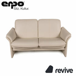 Erpo Chalet Leather Sofa Cream Two Seater Couch Function Relaxfunktion