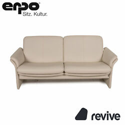 Erpo Chalet Leather Sofa Cream Two Seater Couch Function