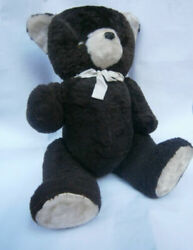 As Long One Point Teddy Antique 1950 Vintage Brown Toy Mohair Huge Early Hu