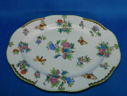Super Rare Helend Antique Herend Queen Victoria Giant Oval Service Platter 1941