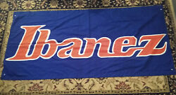 Ibanez 33 X 70 Store Display Music Store Dealer Banner Made In Japan 100 Poly