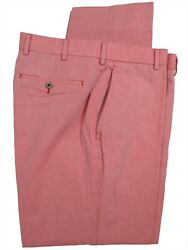 Brooks Brothers 1818 Fitzgerald Pink Flat Front Italian Cotton Chinos 36x31.5