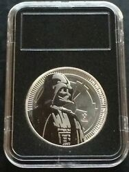 2017 New Zealand 1 Ounce Silver Star Wars Darth Vader - Black Lighthouse Case