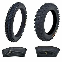 14 60/100-14 Front 12 80/100-12 Pit Bike Tire + Tube For 110 125cc Ssr Crf70