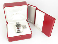 Auth Pasha C Big Date Stainless Steel Automatic Boy's Unisex Watch +case