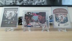Very Rare Lot Of 3 Dale Earnhardt - Richard Petty Card Signed - Psa10 Condition