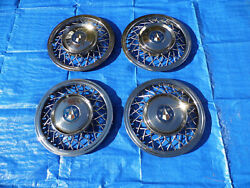 Rare Set Of 1953 1954 1955 Hudson 15 Inch Wire Wheel Covers Hubcaps