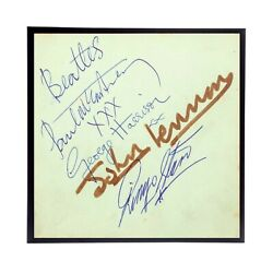 Frame Included Beatles Autographs Reprint