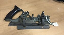Antique Stanley No 45 B Wood Plane Woodworking Hand Tools