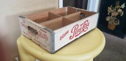 Vintage 1950and039s 24 Bottle Drink Pepsi-cola Crate