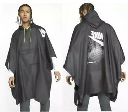 Nike Sports Menswoven Poncho Rain Covering Jacket Long Coat Packable One Size