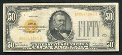 Fr. 2404 1928 50 Fifty Dollars Gold Certificate Currency Note Very Fine
