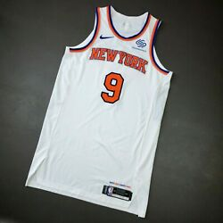100 Authentic Rj Barrett Nike Knicks Game Issued Jersey Size 50+6 Mens