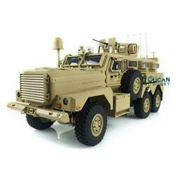 Us Stock Hg 1/12 66 Rc Cougar 6x6 Mrap Vehicle 16ch Radio Explosion Proof Car