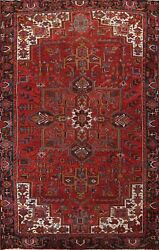 Antique Geometric Traditional Oriental Area Rug Wool Hand-knotted 9x12 Ft Carpet