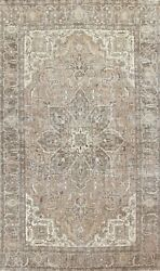 Antique Geometric Traditional Oriental Area Rug Wool Hand-knotted Carpet 7x10 Ft