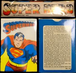 Superman Sealed Vintage Playing Cards Dc Comic Icon Rare Game Deck High Grade