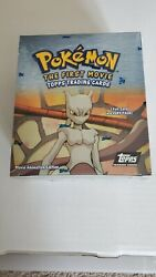 Pokemon The First Movie Topps Trading Cards Booster Box Sealed New Small Rip