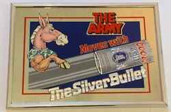 Army Moves With Coors Light Silver Bullet 18 X 13 Mirror Bar Sign Vintage 90s
