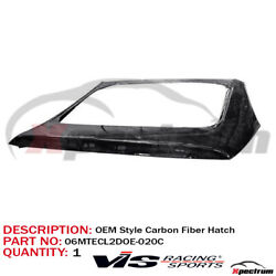 Fit 06-12 Mitsubishi Eclipse Oe Style Carbon Fiber Tailgate Hatch By Vis Racing