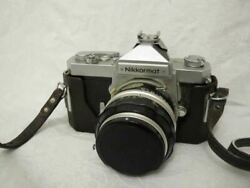 Nikon Nikkormat Ft Film Camera With Nikkor-s 11.4 F=50mm Lenses And Leather Case