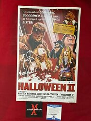 Scout Taylor-compton Signed 11x17 Photo Rob Zombie Halloween Beckett Coa